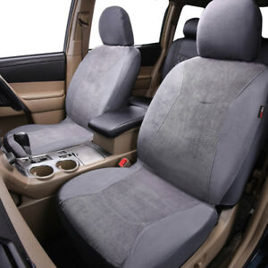 Universal-Grey-2-Front-Car-Seat-Covers-Airbag-Washable-for-Toyota-Holden-Nissan