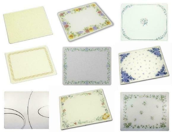 Corelle 92016ABDH Corelle Abundance 20 x 16 Counter Saver Tempered Glass Cutting Board