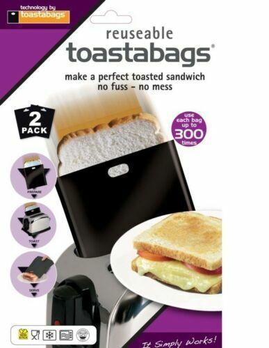 Twin Pack Réutilisable toastapockets Toastabags