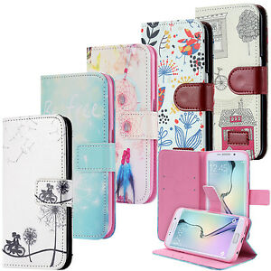 Housse-Wallet-Coque-Case-Motif-Cover-Portefeuille-Pochette-Etui-Samsung-Galaxy