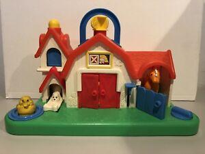 Vintage Fisher Price Farm Barn Animal Sound Activity Center Toy