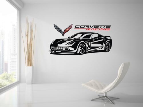 Chevrolet Corvette Z06//ZR1 Racing Sport Front Car Wall Decal Art Mural Sticker