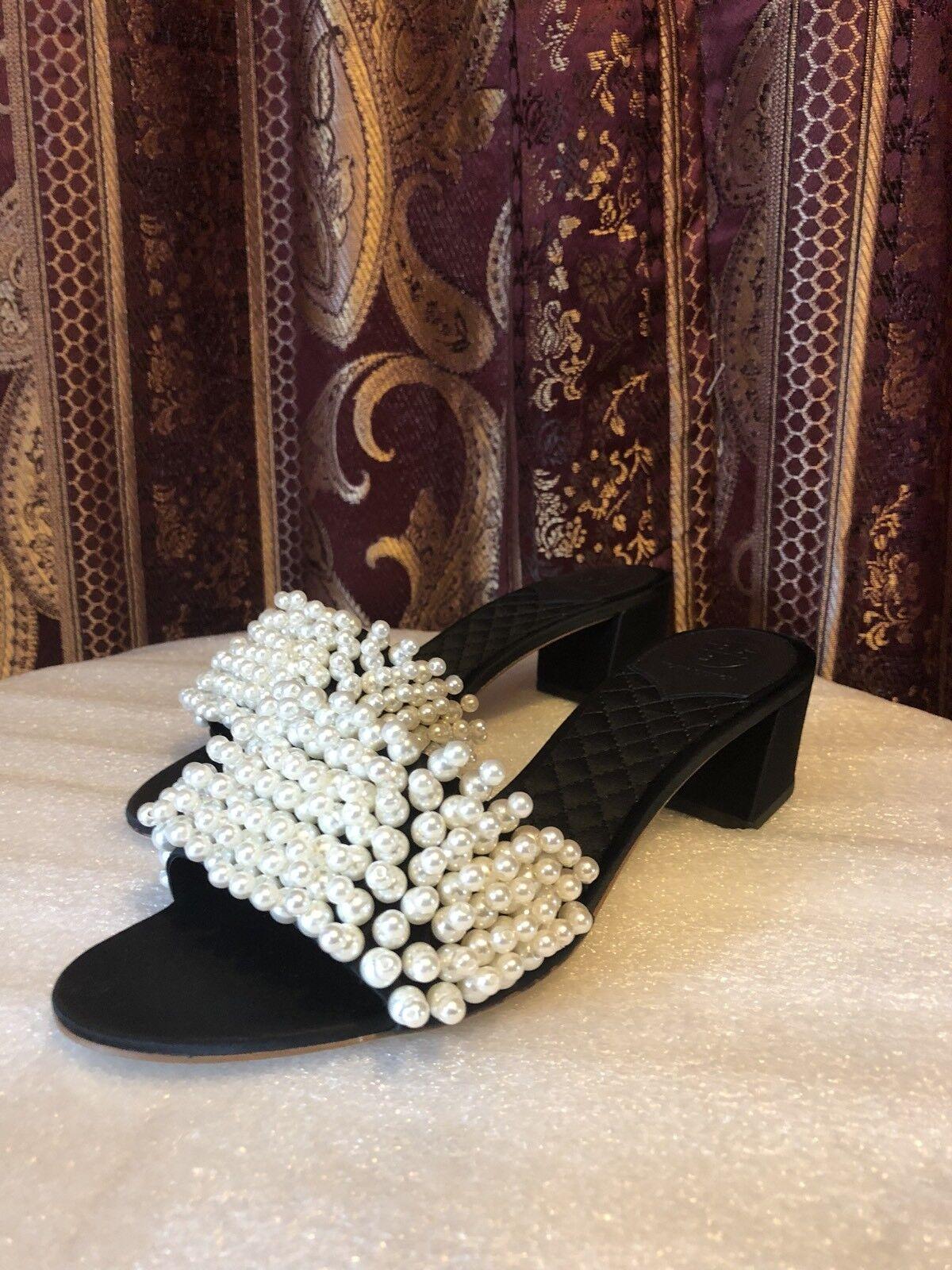 Tory Burch Tatiana 45mm Slide Slide Slide Sandals, Black (8.5) cbdda0