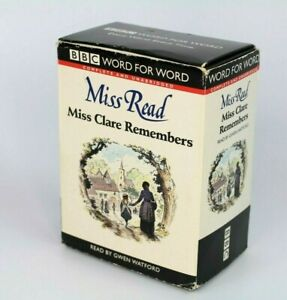 BBC-Word-for-word-Miss-Read-Miss-Clare-Remembers-Read-By-Gwen-Watford-Cassettes