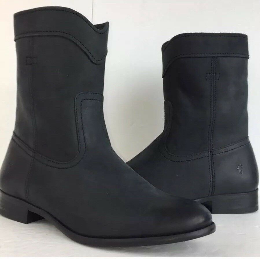 Frye Black New Cara Cara Cara Roper Mid Calf Leather Riding New Boots Booties 60a352