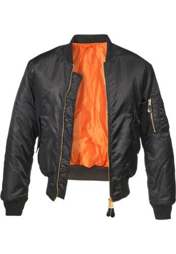 BRANDIT Giacca Giubbotto Bomber uomo militare aviatore MA1 Jacket Black Over