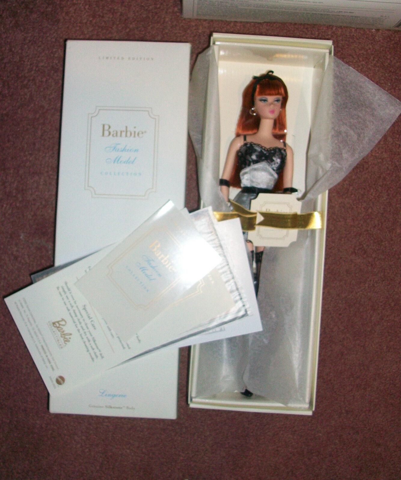 Barbie Silkstone Lencería Moda 2002 Modelo Edición Limitada De Colección Difícil De Encontrar