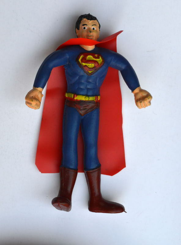 Vintage SUPERMAN BENDIE BENDIE BENDIE VARIANT w Dark bluee & LONG CAPE Mego Rare 63b7a1