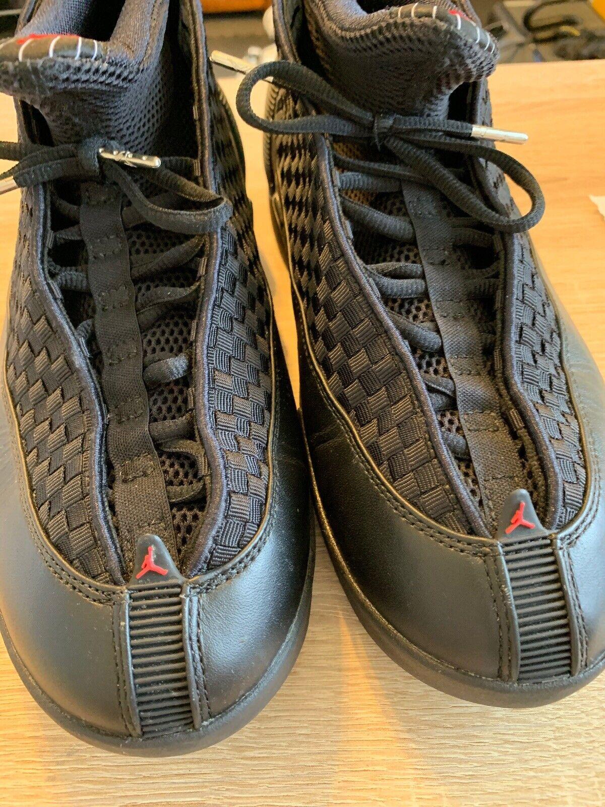 Nike Air Jordan 15 XV Retro BLACK VARSITY RED STEALTH BRED 23 Boost  881429 001