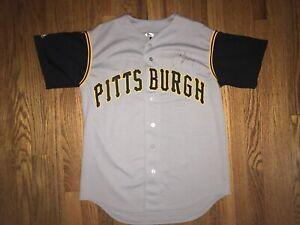 sale retailer ab59c 2ac88 Details about Pittsburgh Pirates Jersey Away Vintage Jason Bay Autographed  Majestic Medium MLB