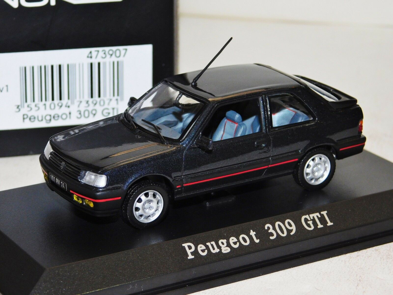 PEUGEOT 309 GTI DARK GREY METALLIC NOREV 473907 1 43