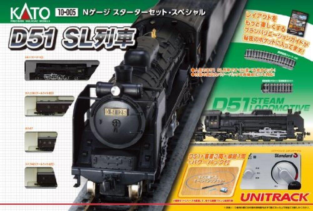 Kato 10-005 Locomotora de Vapor Tipo D51 Escala N Set Básico (Escala N) de Japón