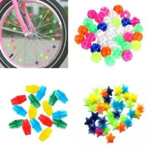 25x-36x-Fahrrad-Rad-Kunststoff-Speichen-Korn-Kind-Kind-farbigen-Dekor-Clip-O5V5