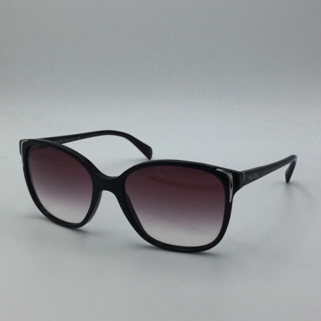 d20e165ed66 PRADA Spr01o Black Squared Sunglasses W  Purple Gradient Lenses for ...