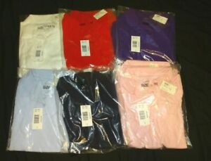 Justice School uniform Polo Shirt Red Pink Purple Light Blue White Navy Blue New