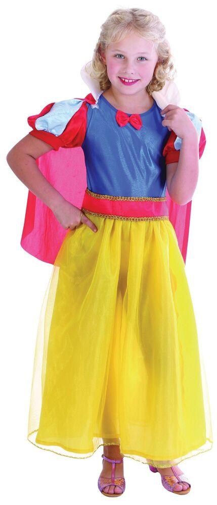 Constructif Childs Enfants Blanche Neige Livre Semaine Style Fancy Dress Costume Costume Âge 5 - 11 ExtrêMement Efficace Pour Conserver La Chaleur