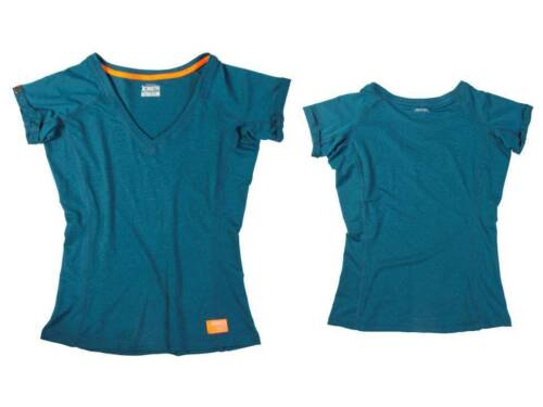 Jobe Discover T-Shirt Teal Nero Ladies Sup Stand Up Paddle Board Tee Top