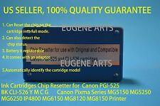 Canon Ink Cartridge Chip Resetter PGI-525 BK  PGI-525  CLI-526 Y M C G
