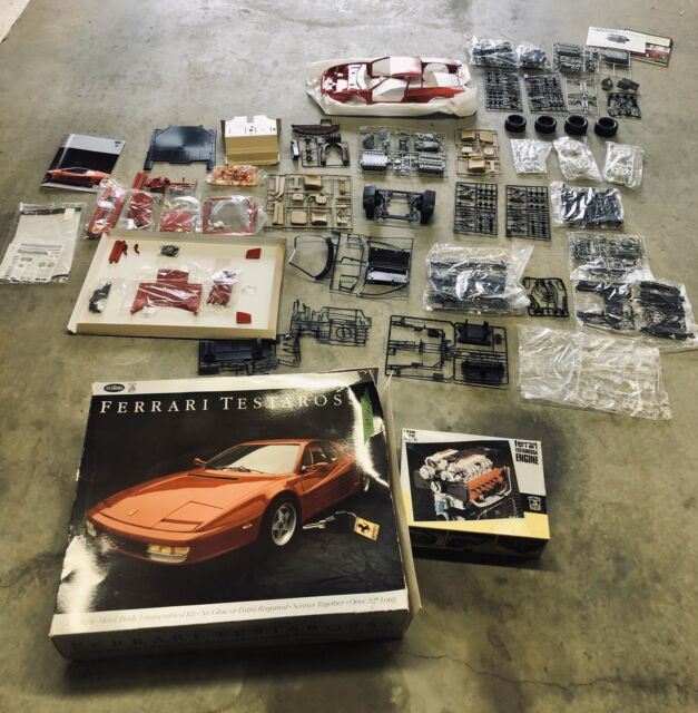Metal Gate plate Kit F40 Metal Gear Shift Knob Pocher 1//8 Ferrari Testarossa