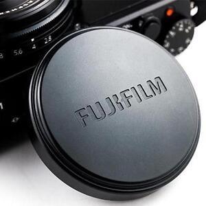 Original FUJI Fujifilm X70 Digital Camera Metal Front Lens Cap Cover - BLACK