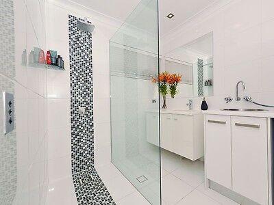 Frameless Shower Screen Fixed Panel 1100mm x 2000mm -10mm Toughened Glass