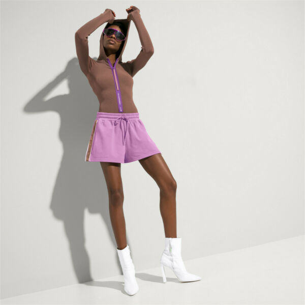 Puma X Fenty Rihanna Shorts Damen Fitness Short Hose Split Lila 577261-02 NEU