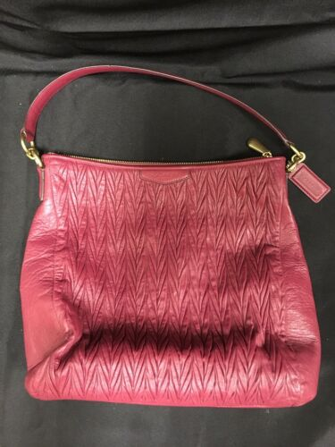 Vintage Coach Red Shoulder Purse