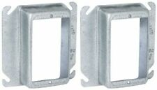 Lot Of 2 Mud Ring Raco Steel 1 14 In Raised 4 In Square Outlet Box Single