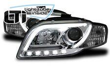 Fari Anteriori Dayline Daylight LTI CCFL Light Tube Audi A4 B7 04->08 Cromati