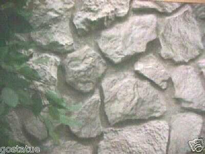12 asst molds poly Plastic rock facing wall veneer  moulds almost unbreakable