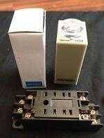 Omron Timer H3y-2 Dc 12v 10m 10min 0-10min Base Socket Minute B8