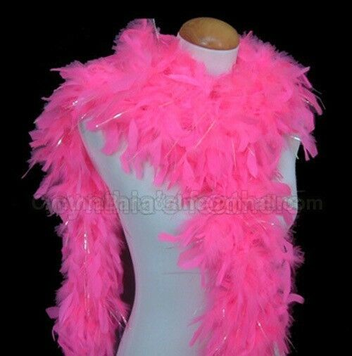 Light Lime Green with lurex 65 Grams Chandelle Feather Boa Dance Party Halloween
