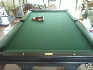 leisure bay 8' slate pool table with cover, rack, 16 balls, 4 cues