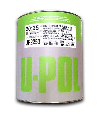 U-pol 2K High Build DARK GREY Car Primer S2025 4L Primer VAT inclusive FREE POST