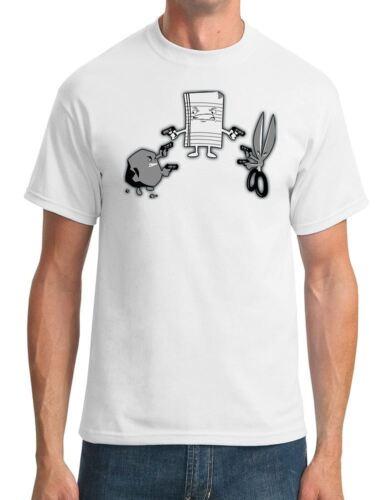 T-shirt Homme Pierre papier ciseaux shoot-out