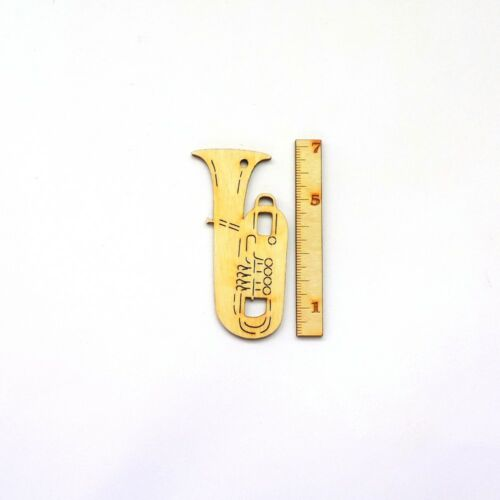 Tuba aus Holz 7 cm Musikinstrument Geschenk Geldgeschenk Musiker
