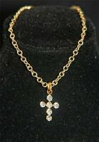 Sparkling Crystal CROSS Necklace Cissy Miss Revlon Sue Toni Fashion Doll Jewelry