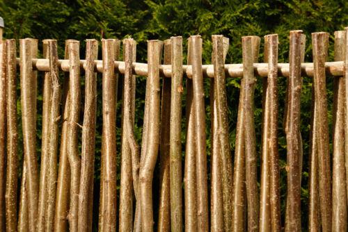 Haselnusszaun UNIVERSAL Sichtschutz Haselnusszäune Gartenzaun Flechtzaun Zaun