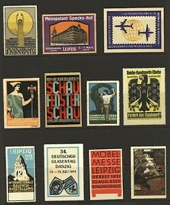 Cinderella Germany range of fair, exhibition and advertising labels (11v) Stamps