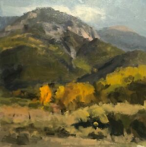 HABER-PLEIN-AIR-TAOS-NEW-MEXICO-ASPEN-IMPRESSIONIST-LANDSCAPE-PAINTING-1998