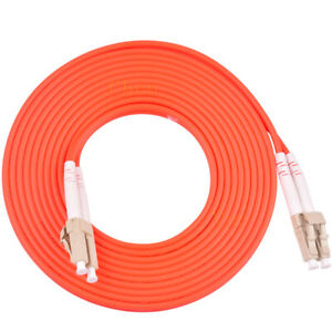 3m-LC-UPC-to-LC-UPC-Duplex-50-125-OM2-Multimode-Fiber-Optic-Patch-Cord-Cable