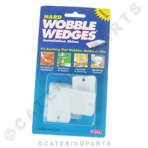 HARD-WOBBLE-WEDGES-PACK-OF-6-TAPERED-PLASTIC-SHIMS-FOR-APPLIANCE-FEET-TABLE-LEGS