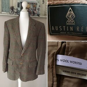 Austin Reed Mens Lyndon Tweed Wool Worsted Jacket Fawn Chest 40 Made In England Ebay