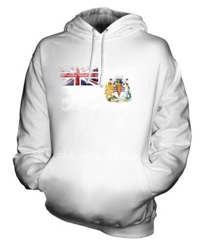 Britisch Antarktik Territorium Distressed Flagge Unisex Kapuzenpulli Top Fußball