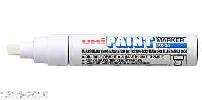 Uni PX-30 Oil Base Permanent Paint Marker Pen x 1 pc  SILVER Broad point