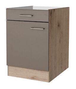 Küchen Unterschrank 60 cm breit ohne Arbeitsplatte - Rodello | eBay