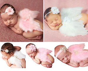 Baby-Girl-Clothes-Newborn-Headband-Feather-Wing-Clothing-Set-Photography-Props