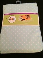 Circo Blue Dot Fitted Crib Sheet
