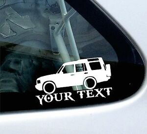 Custom-your-text-039-Land-Rover-Discovery-series-2-039-car-outline-stickers-decals