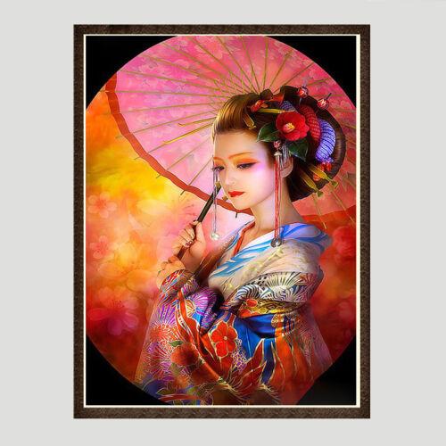 "Full Square//Round Drill 5D DIY Diamond Painting /""Japanese woman/"" rhinestone NEW"